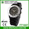 FT1607 Hong Kong silicone black band Japan movt bezel quartz watch