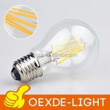 A60 led filament bulb led soft white low cost 4w 6w 8w