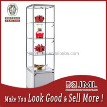 glass jewelry display table with jewelry shop show case/ glass perfume display cabinet