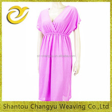 summer women long casual polyester off-arm high quaility dress manafuctury