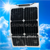 semi flexible bendable solar panel with high efficiency