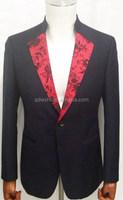 2015 Hot sale custom design fancy slim fit new style wedding dress suits for men
