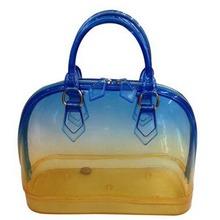 Women Candy Shiny Color Tote Design PVC Shopping Bag