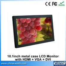 10 inch advertising led display screen mini LCD monitor with VGA DVI