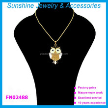 Factory latest design bird pendant necklace,popular for foreign