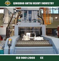 QWD shot with net-cleaning automatic sandblasting machinery for cast iron