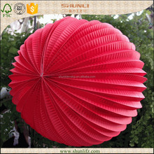 2015 wholesale wedding decoration hanging red paper accordion lantern