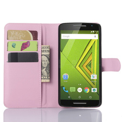 Folio PU Leather Slim Stand Case Cover For Motorola X Play