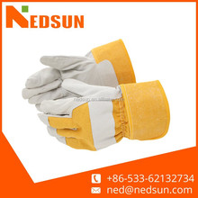 High quality hand protection industrial leather hand gloves