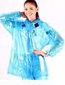 100% impermeable y cortavientos traje de lluvia para para en azul claro