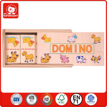 alibaba china toys 28 pcs duck dog pig sheep cow horse animal design one piece two image in a wooden box domino brick