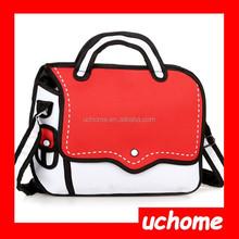 UCHOME Nylon Shoulder Bag Cartoon Message 3d comic cartoon Bags