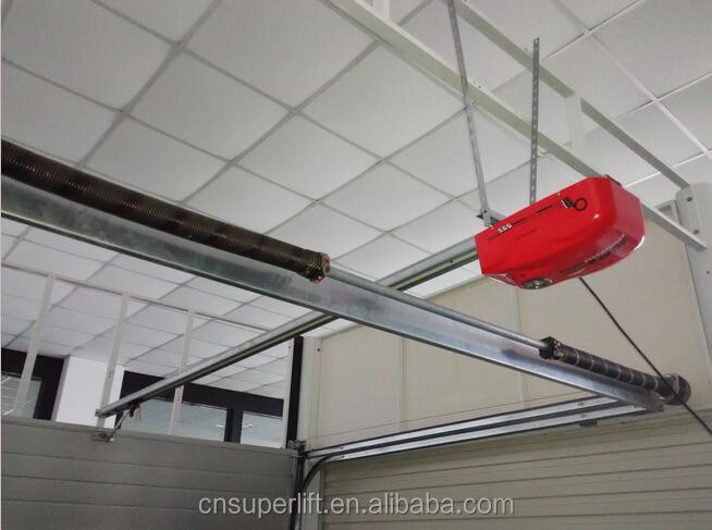 Rear torsion springs automatic garage door low headroom for Rear garage door