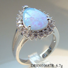 New Arrival Silver Jewelry, latest Sterling Silver Opal Gemstone Ring Only for ladies
