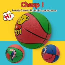 custom cheap sport stock cartoon design rubber basket ball for promotion