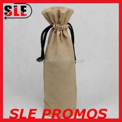 Custom jute tote bags for wine jute gift bags