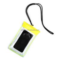 2015 new design luminous mobile phone waterproof bag for iphone 6