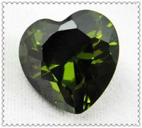 Heart Flat Cut Synthetic Diamond olive stone Cubic Zirconia for Christmas Tree Decoration Wholesale Price