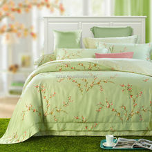 The color of the spring Polyester Brushed printed fabric for home textile wholesale