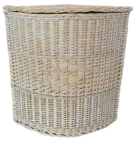 white wicker storage basket with lid