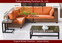 black rattan corner sofa