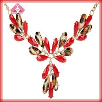 Fashion red coral necklace designs for women and girls(QXNK150092)