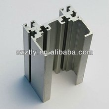aluminum extrusion chanel or slotted profile alloy 6063/6061 with mill finish or anodized