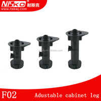 Kitchen cabinet plastic leg base cabinet adjustable legs with dowel