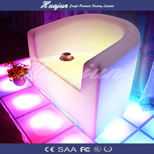 illuminated wedding and event led bar sofa