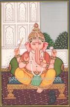 High quality ganesh painting Hindu Religion Art Painting