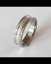 fashion jewelry stylish matte ring 316L stainless steel couple ring OEM ODM jewelry factory