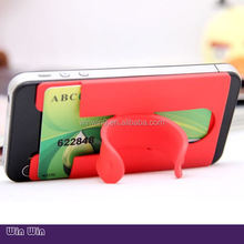 Customized OEM gift handy sticky silicone phone stand,brand names printable silicone rubber cell phone stand