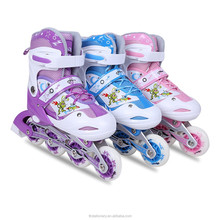 2015 Popular Semi-soft Adjustable kids roller skate shoes