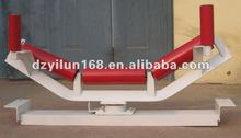 Bulk cargo transportation belt conveyor carrier though roller