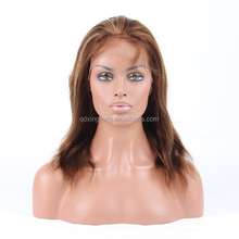 new product hot selling glueless silk top human hair full lace wigs with highlight