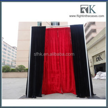 photo booth company usage flight cases and curtains