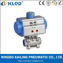 KLQD brand 2 inch size pneumatic ball valve for water fluid
