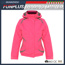 girls kids fashion hoodie pink two invisible pocket windproof snowsuit