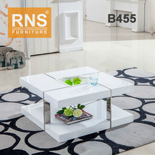 RNS White Color Wooden Coffee Table B455