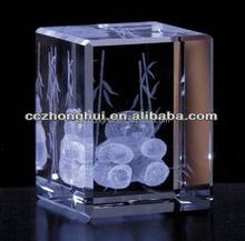 Artistic animal 3d laser engraved Crystal Cube