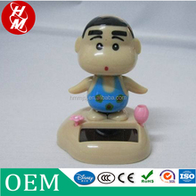 customized anime action plastic ABS figures, OEM cute CrayonShin-chan solar-powered plastic figurines