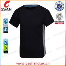 O-neck black blank tee popular dri fit sport t-shirt