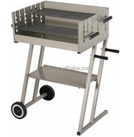 Rectangular charcoal grill garden wagon BBQ