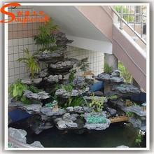 indoor artificial decorative waterfall fountain mini fiberglass brass stone rocks fountains pump home decoration for garden