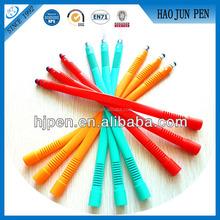 Fancy Colorful collapsible touch pen, stylus pen touch pen