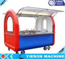 2015 Hot sale Food Kiosk ice cream bicycle fast food cart hot dog cart