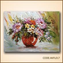 Good price flower vase painting designs clay