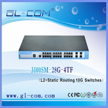 Support CLI command line management and telnet 24 Port Switch 10G Network Switch