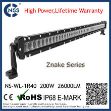 2015 NEW high power lifetime warranty IP68 Stable quality 40inch 5w cree led offroad light bar cover offroad supplier