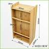 Customized bamboo wall-mounted keys holder and letter rack - HOMEX